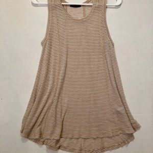 Light summer tank with stripes. Size small